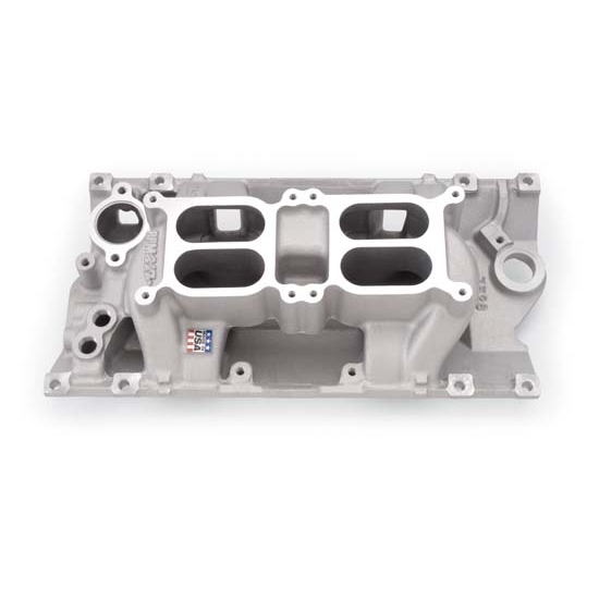 Edelbrock 7526 Performer RPM Dual-Quad Air Gap Intake Manifold, Chevy