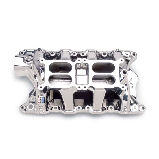 Edelbrock 75854 RPM Air Gap Dual-Quad Intake Manifold, SB Ford