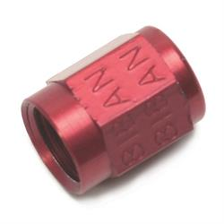 Edelbrock 76528 Tube Nut Fitting, -3 AN to 3/16 Inch, Red