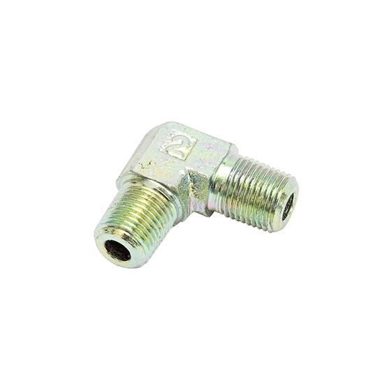 Edelbrock 76554 Pipe Nipple Fitting, 90 Degree, 1/8 Inch NPT, Steel
