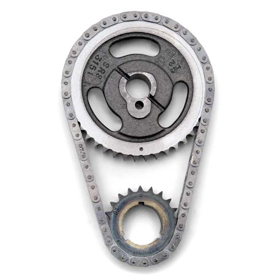 Edelbrock 7811 Performer-Link True Roller Timing Set Chain, SB Ford