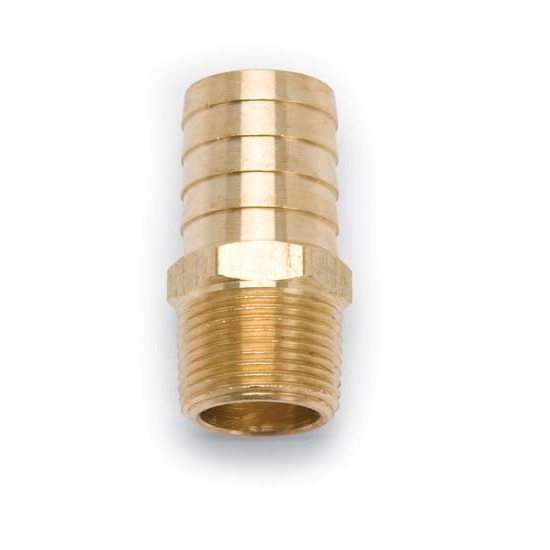 Edelbrock 8078 Brass Hose Fitting, 1 In. o/d x 3/4 In. NPT,SB Chrysler