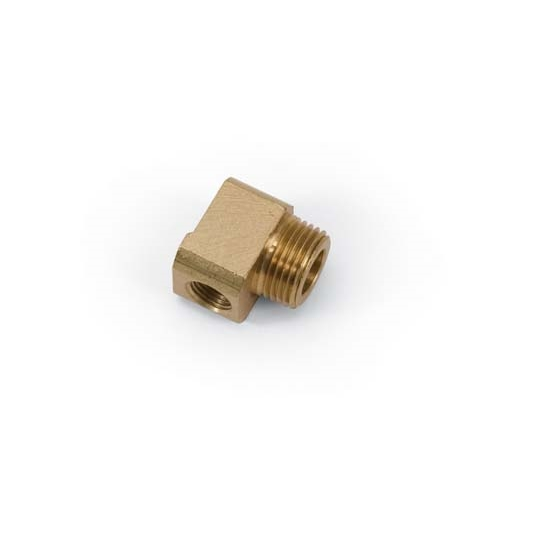 Edelbrock 8096 Low-Profile Vacuum Fitting Reducers, 90 Degree, Brass