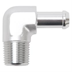 Edelbrock 8182 Pipe to Hose Barb Fitting, 90 Deg, 1/2 in. NPT
