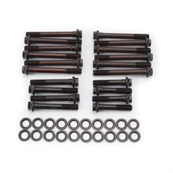 Edelbrock 8561 Cylinder Head Bolt Set, Black Oxide, Pontiac