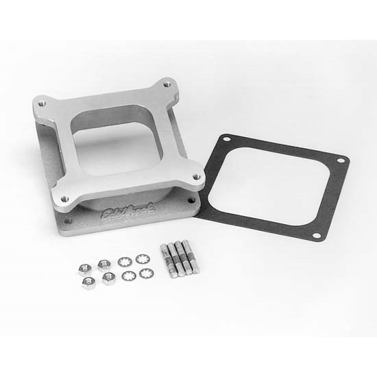 Edelbrock 8716 Performer Series Carburetor Adapter, Aluminum 2.0 Inch