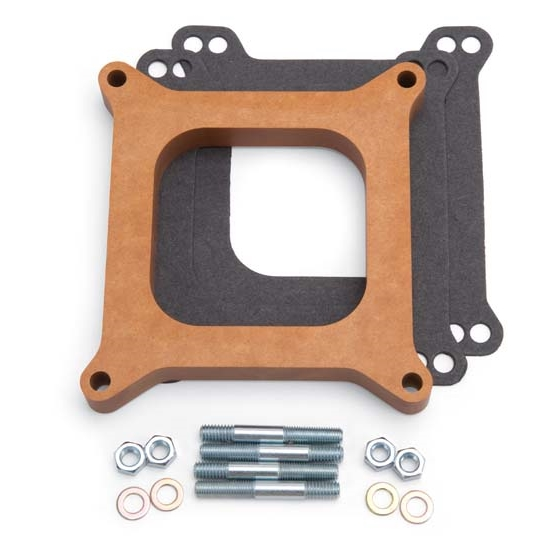 Edelbrock 8719 4- Barrel Carburetor Spacer, Wood, 0.750 Inch