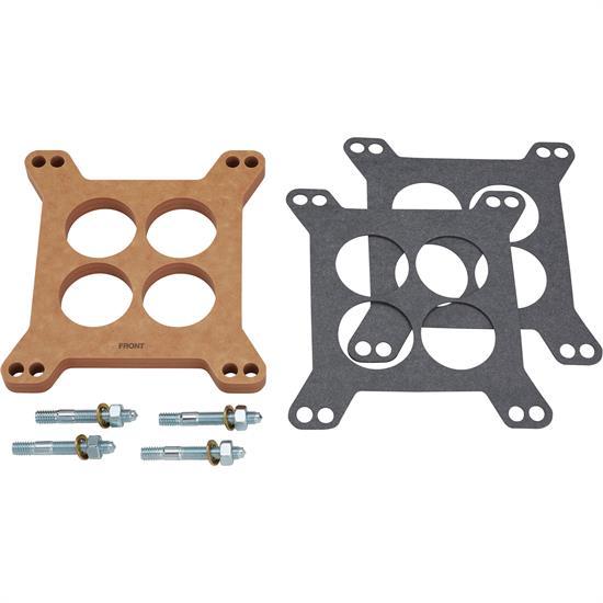 "4150 Square Bore Wood Laminate Edelbrock 8724 Open Carburetor Spacer 1//2/"""