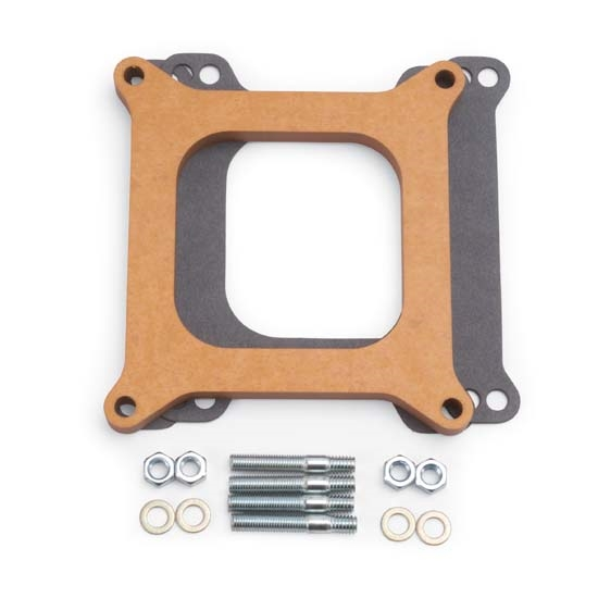 Edelbrock 8724 4- Barrel Carburetor Spacer, Wood, 0.500 Inch