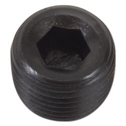 Edelbrock 9126 Series Pipe Plug, 1/2 Inch NPT, Steel, Gloss Black