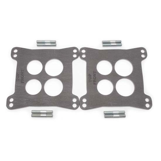 Edelbrock 9267 Heat Insulator Gaskets, Dual-Quad, 4-Hole
