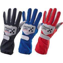 Finish Line Single Layer Racing Gloves, SFI-3.3/1 Leather