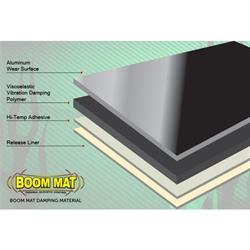 "Boom Mat Acoustic Sound Deadening Material 12/"" x 12/"" 8 Sheets DEI 050204"