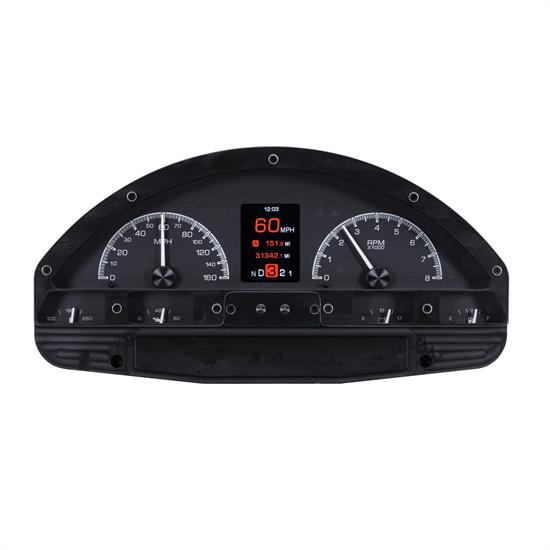 Dakota Digital HDX-56F-PU-K 56 Ford Pickup HDX Instruments, Black