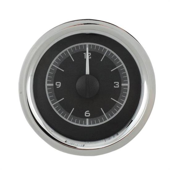 Dakota Digital VLC-55C-K-W 55-56 Chevy Car Clock for VHX, Black