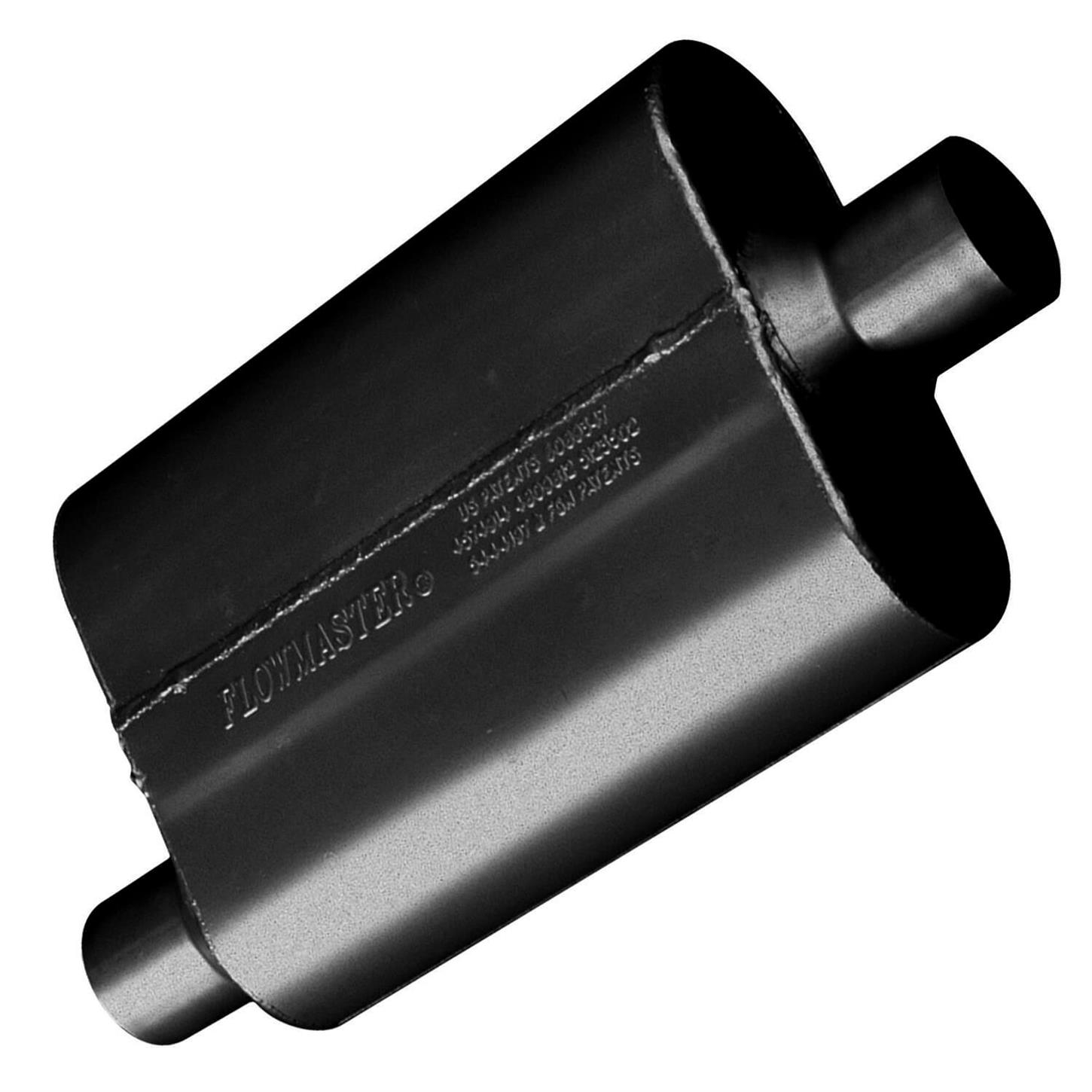 Aggressiv 3.00 Offset In Flowmaster 40 Series Muffler 409S 3.00 Center Out