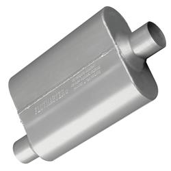 Flowmaster 42441 2-1/4 Inch Muffler, Offset Inlet/Centered Outlet