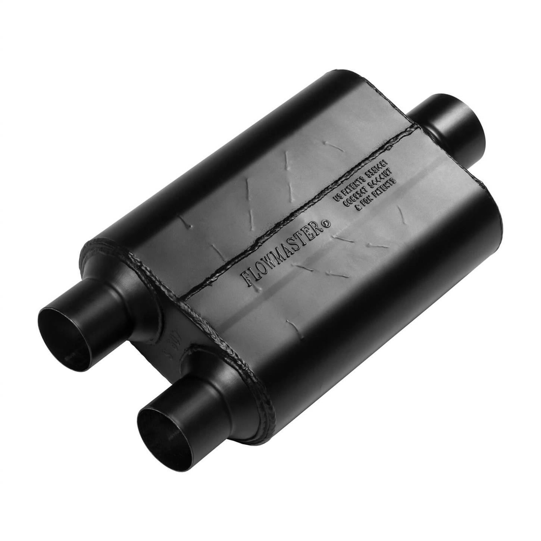 """42541 Flowmaster Original 40 Series Muffler 2.5/"""" Offset Inlet//Center Outlet"""