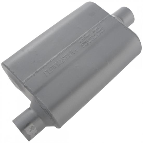 Flowmaster 42541 2-1/2 Inch Muffler, Offset Inlet/Centered Outlet