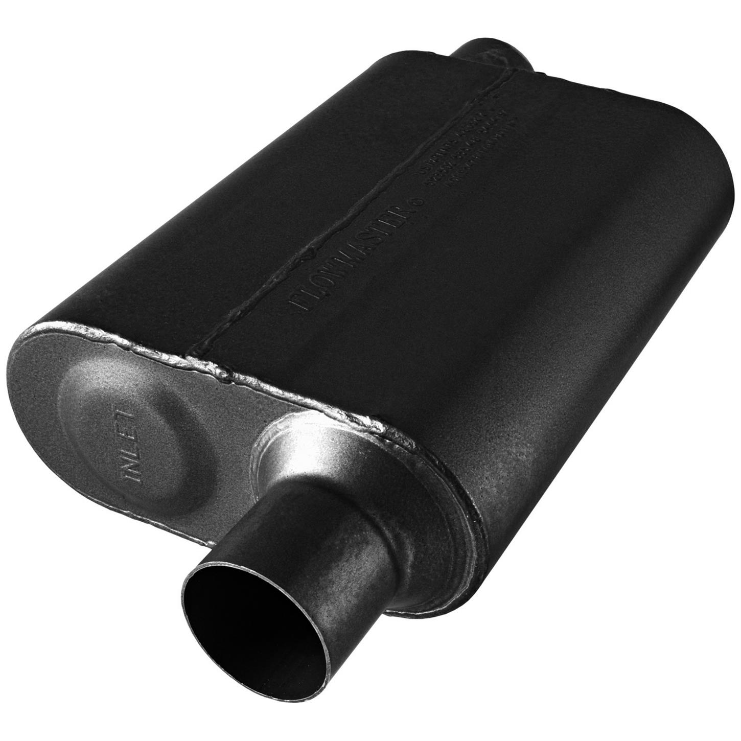 Flowmaster 843048 Super 44 Series Muffler 409S 3.00 Offset IN//3.00 Offset OUT Aggressive Sound