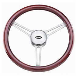 "Grant 41015212 Steering Wheel, 14 3/4"" Diameter, Mahogany"