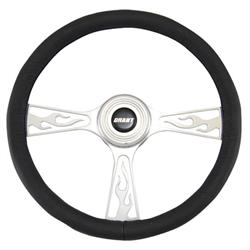 Grant 41015801 Flame Model Steering Wheel, 14-3/4 Inch