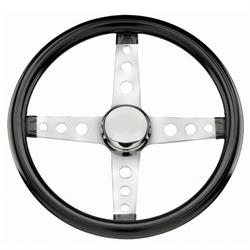 Grant 570 Classic Series 4-Spoke Steering Wheel, Black Vinyl