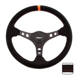 Grant 699 Suede Series Steering Wheel, 13-3/4 Inch, Black/Orange