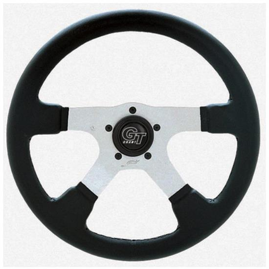 Grant 748 GT Rally Steering Wheel, 14 Inch, Black/Anodized Aluminum
