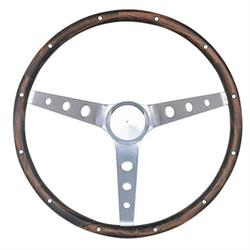 Grant 963 Classic 13.5 Inch Wood Steering Wheel w/ Mustang Horn Button