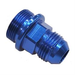 Quick Fuel 19-28QFT Fuel Inlet Fitting, 7/8-20 Inch x -8 AN, Blue