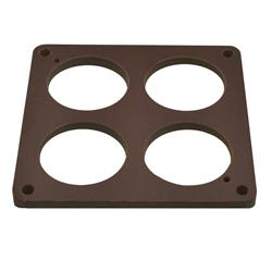 Quick Fuel 300-4012QFT Phenolic Carb Spacer, 1/4 In, 4-Hole, 300-4012