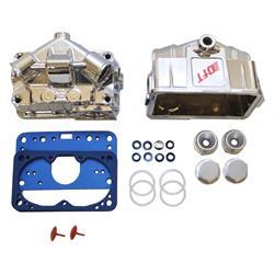 Quick Fuel 34-103QFT Chrome Fuel Bowl Kit, Aluminum
