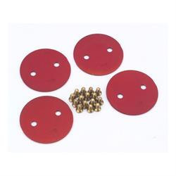 Quick Fuel 9-228RQFT Throttle Plates, 2 Inch, Red Annodized