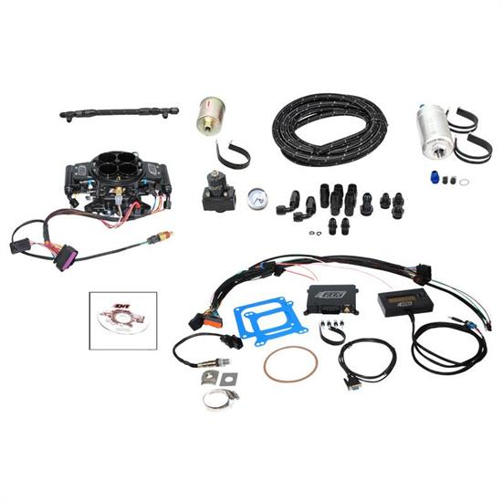 Quick Fuel QFI-500BDM Fuel Injection Master Kit, Black Diamond
