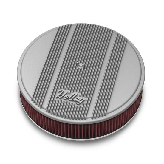 Holley 120-160 Round Raw Finned Air Cleaner, Reusable Filter, 14 x 3