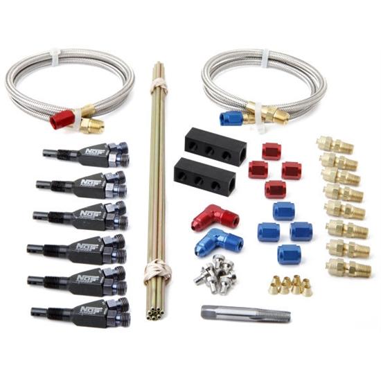 Nos 13384nos Custom Nitrous Plumbing Kit 6 Cylinder