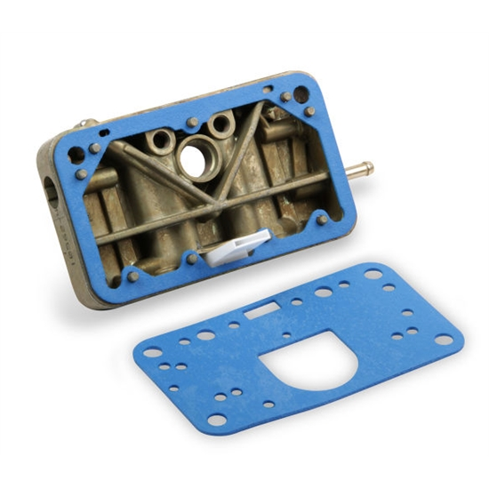 Holley 134-155 Primary Metering Block, Cast Aluminum, Gold Iridite