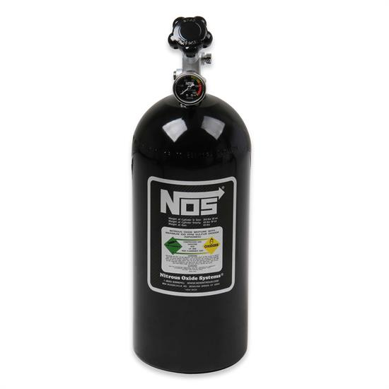 NOS 14745BNOS Nitrous Bottle, 10 Pound, with Gauge, Black