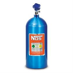 NOS 14745-TPINOS Hi-Flo Nitrous Bottle w/Racer Safety, Electric Blue