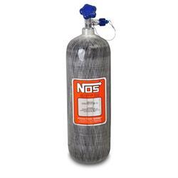 NOS 14748NOS Hi-Flow Carbon Fiber Wrapped Nitrous Bottle, 12.8 Pound