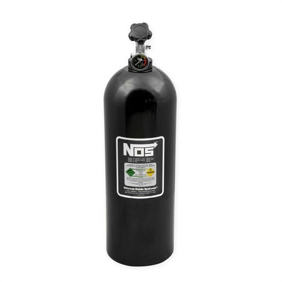 NOS 14760BNOS Nitrous Bottle, 20 Pound, with Gauge, Black