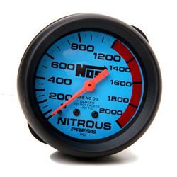 NOS 15911NOS Nitrous Pressure Gauge, 0-2000 PSI, w/Blue Face