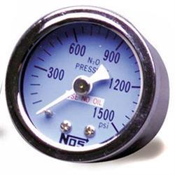NOS 15912NOS Nitrous Pressure Gauge, 1-1/2 In Diameter, w/-6AN Adapter