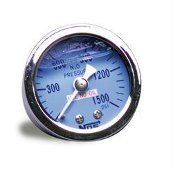 NOS 15916NOS Nitrous Pressure Gauge, Glycerin Filled, w/-6AN Adapter