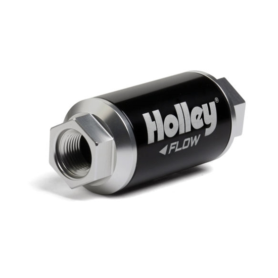 Holley 162-550 100 GPH HP Billet Fuel Filter, 3.5 Inch Length