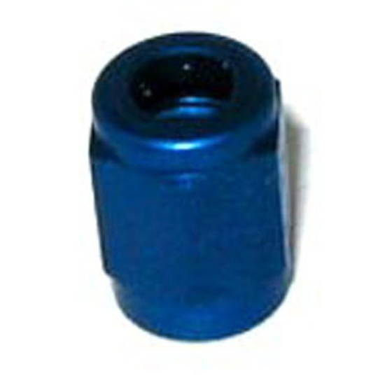 NOS 17550NOS Tube Nut, -3 AN - 3/16 Inch Tube, Blue