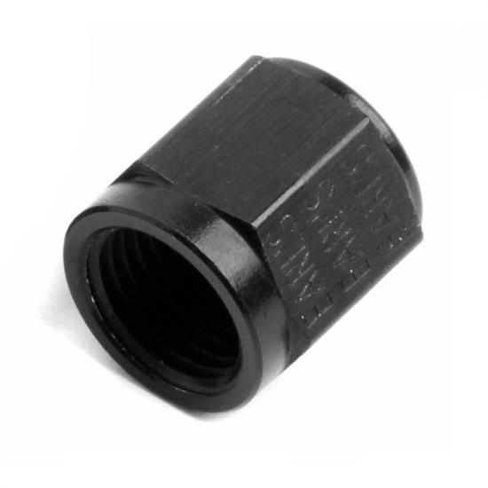NOS 17556NOS -6 AN, 3/8 Inch Tube Nut, Black, Aluminum