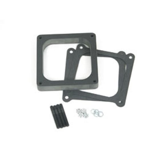 "Holley Carburetor Spacer 4-Barrel Square Bore 1/"" Aluminum Open 17-27"