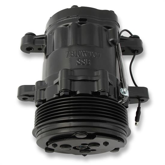Holley 199-104 SD7 A/C Compressor, Black
